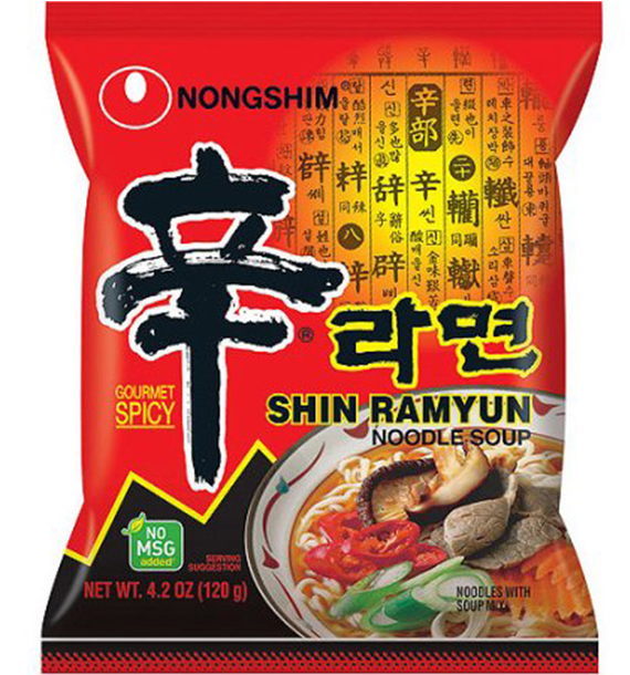 Shin Ramyun noodle - Spiced Korean noodles